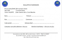 BULLETIN ADHESION TRACY ENVIRONNEMENT